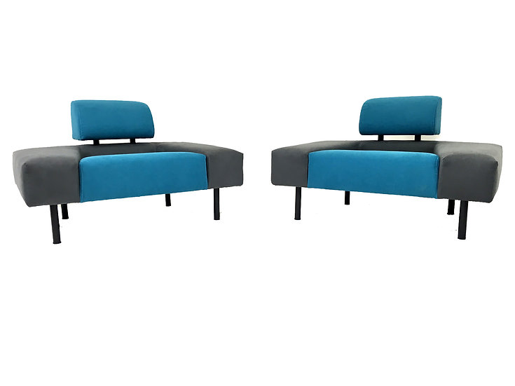 Pouffe Garni Chairs by Rob Eckhardt for Pastoe, 1986, Set of 2