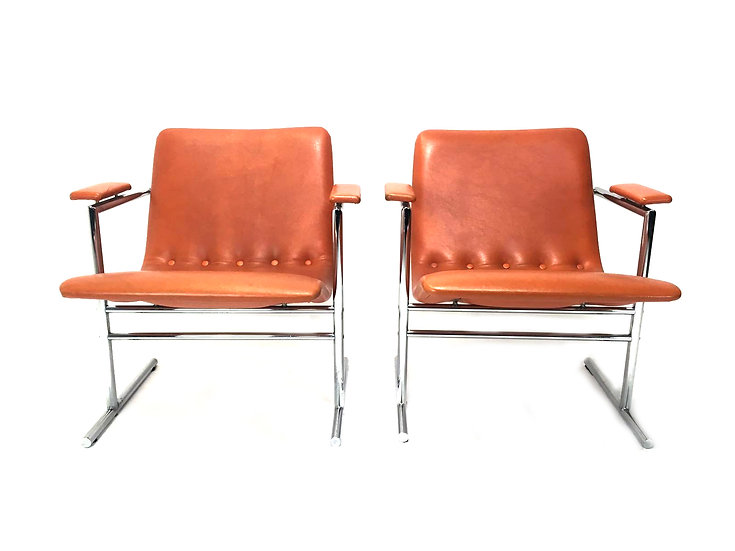 Oslo Easy Chairs by Rudi Verelst for Novalux, 1968, Set of 2