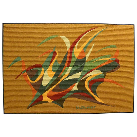Abstract Art Tapestry by G. Duvert, 1970s, France