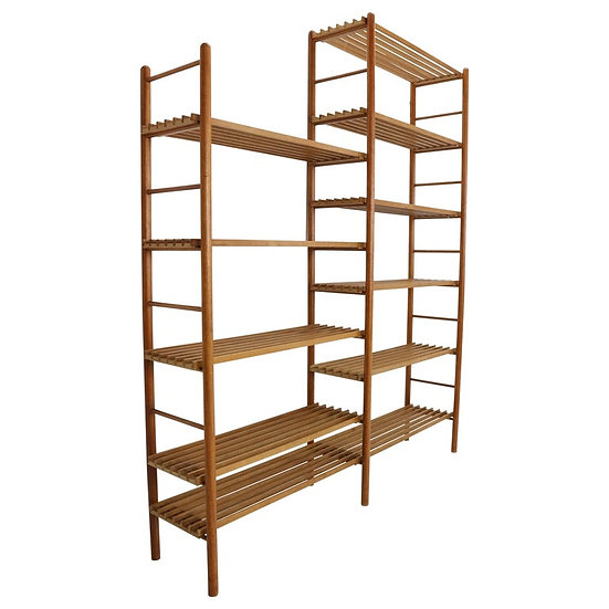 In A Style Of Wilhelm Lutjens Bookcase, Plant Stand or Wall Unit- Dutch, 1960s