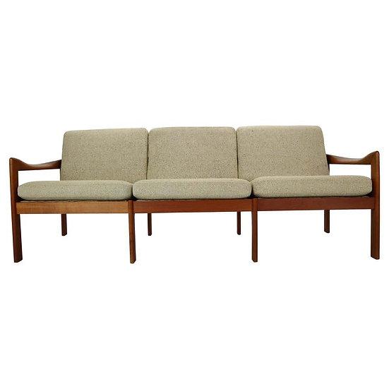 Three-Seat Teak Sofa by Illum Wikkelsø For Niels Eilersen, 1960, Denmark