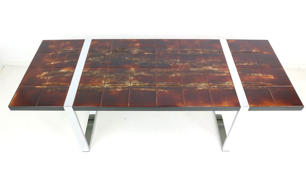Juliette Belarti Ceramic Tiles Midcentury Coffee Table