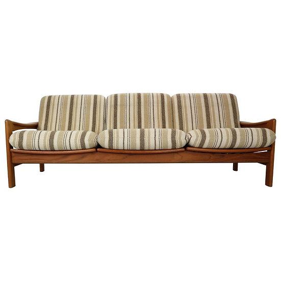 Midcentury Danish Design Teak 3-Seat Sofa by Niels Bach, 1960 Denmark