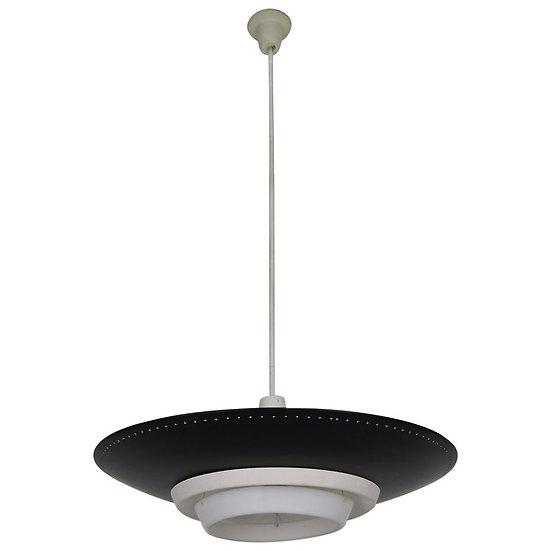 Louis Kalff for Philips Industrial Ceiling Lamp, Dutch Design, 1950