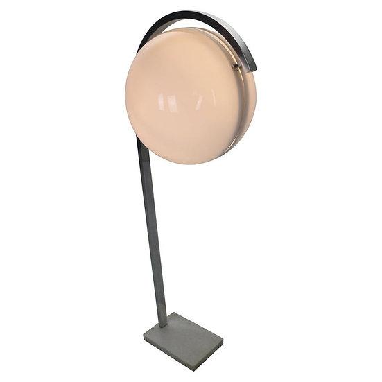 Acrylic Globe Floor Lamp on Carrara Marble Base from Acciarri, 1960s