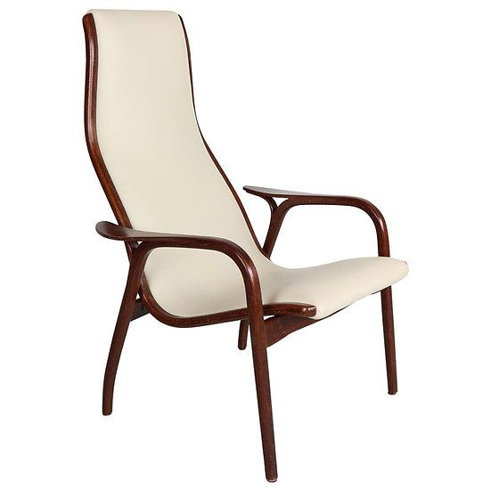 Lamino Chair in Leather and Wengé by Yngve Ekström for Swedese