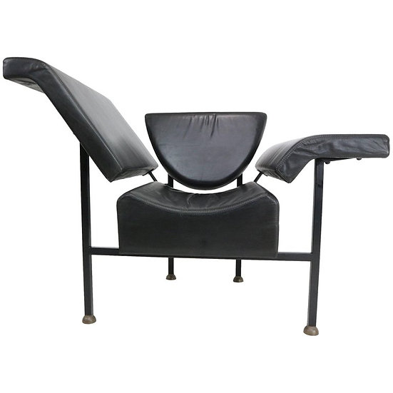 Rob Eckhardt 'Greetings from Holland' Chaise Longue 1983 Leather