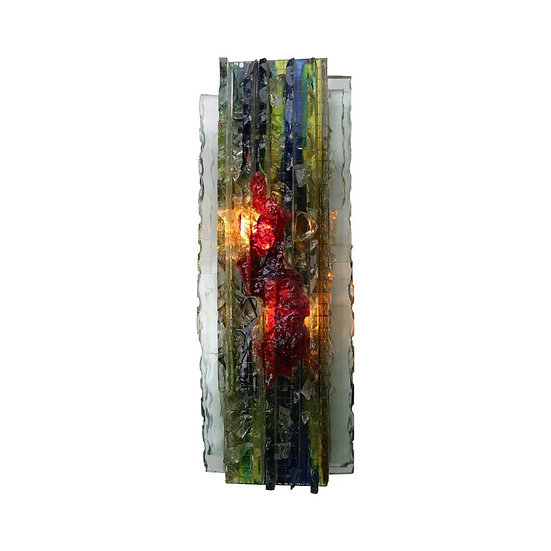 Vintage Glass Wall Lamp by Willem Van Oyen for RAAK, 1960s