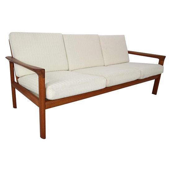 "Danish Teak Three-Seat Sofa ""Borneo"" by Sven Ellekaer for Komfort, 1960s"