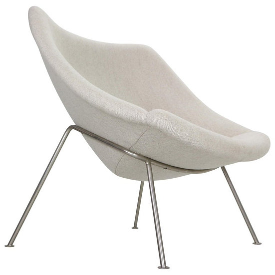 """Pierre Paulin Oyster Lounge Chair, New Upholstery """"F157"""" for Artifort, 1960s"""