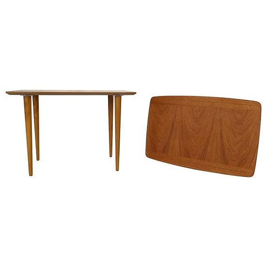 Scandinavian Modern Set of 2 Teak Coffee-Side Tables, 1960s, Denmark