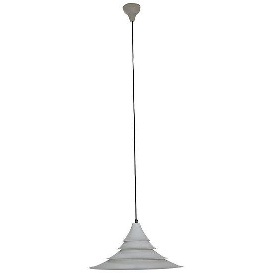 White Vintage Danish Design Hanging Pendant Lamp, 1960s