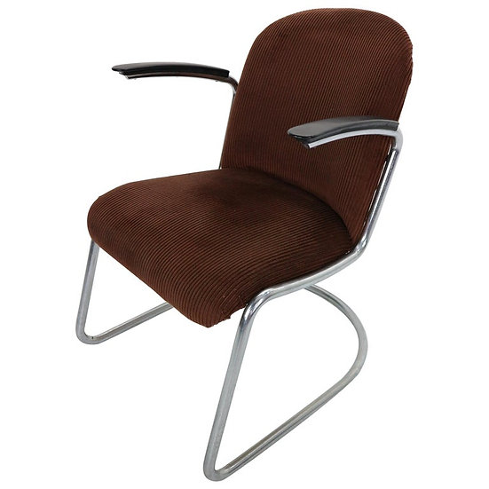 W.H. Gispen by Gispen Culemborg, M-413 Easy Lounge Chair, Dutch Design, 1953
