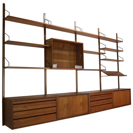 Extra Large Poul Cadovius for Royal System Wall System or Shelving Unit, 1950's
