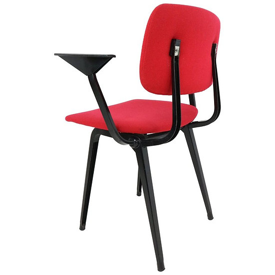 Revolt Chair by Friso Kramer for Ahrend Cirkel Upholstered in Red