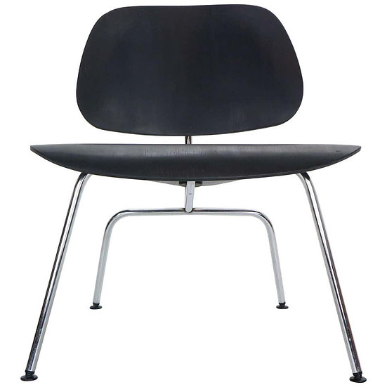 """Early Production Ray & Charles Eames for Herman Miller Black """"LCM"""" Lounge Chair"""