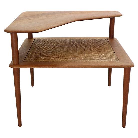 Minerva Teak Side Table by Peter Hvidt & Orla Mølgaard-Nielsen for France & Son
