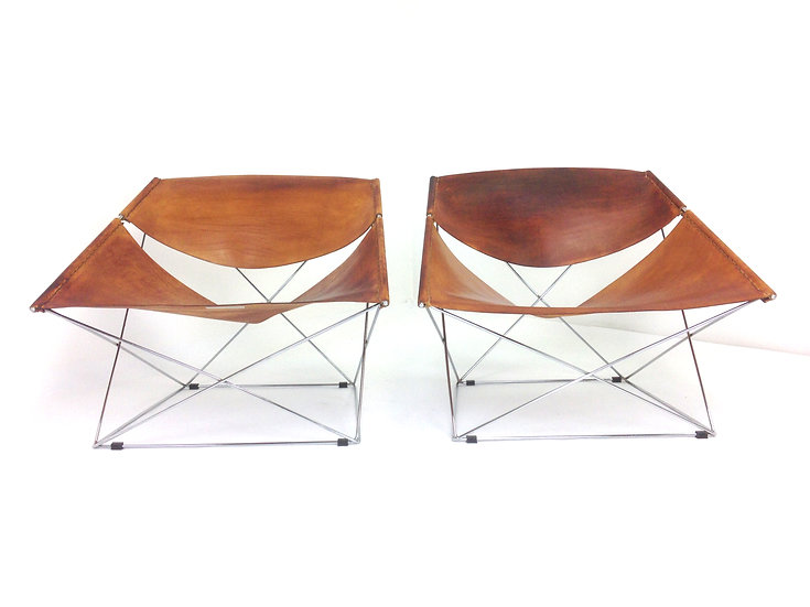 Dutch F675 Butterfly Chairs by Pierre Paulin for Artifort, 1963, Set of 2