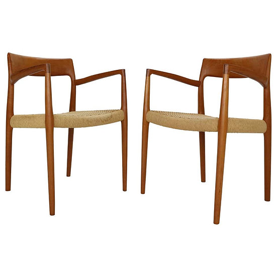 "Niels Otto Møller Set of Two Armchairs ""Model- 57"" for J.L. Møllers, 1959"