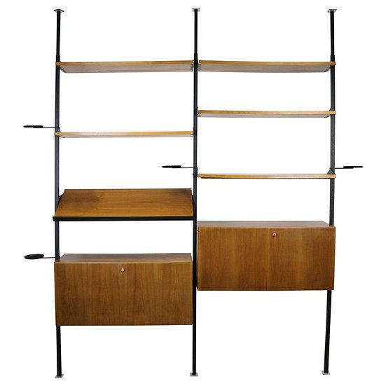 Midcentury Design Room Divider Wall System, Germany, 1960s