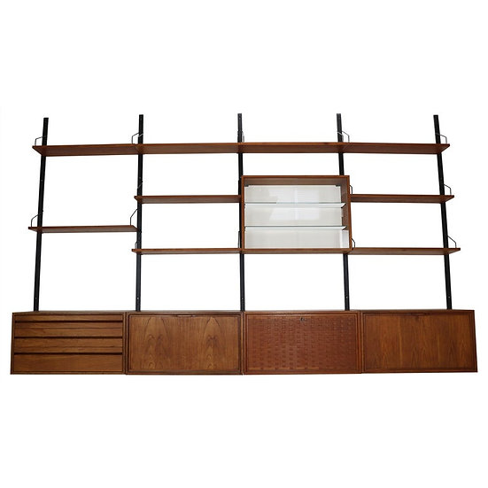 Extra Large Royal System Wall Unit by Poul Cadovius, 1960s