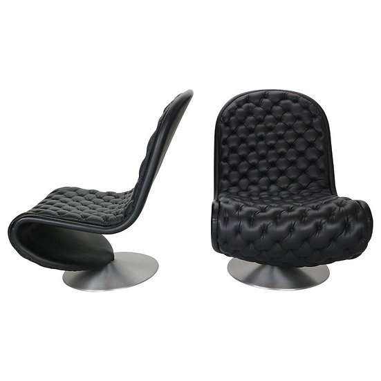 Set of 2 Verner Panton 'System 1-2-3 De Luxe' Lounge Chairs For Fritz Hansen