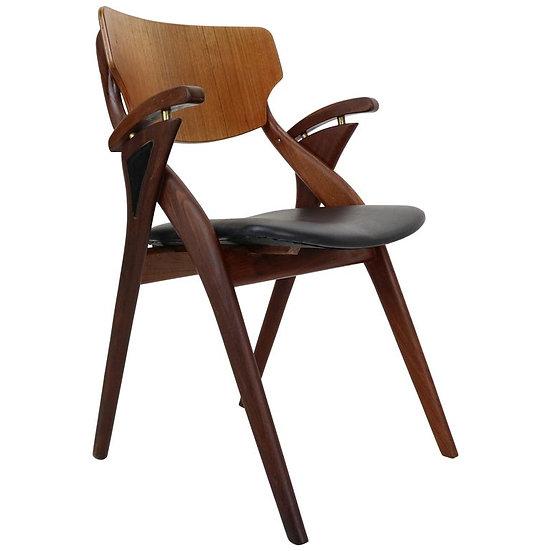 Teak Chair by Arne Hovmand-Olsen for Mogens Kold Møbelfabrik, Denmark, 1960s
