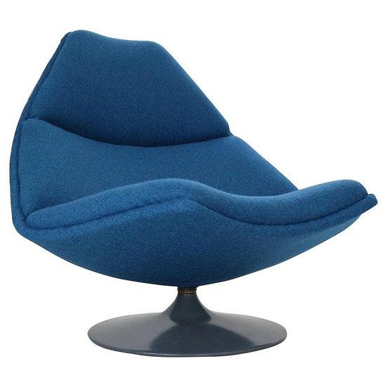 "Geoffrey D. Harcourt ""F588"" Blue Lounge Chair for Artifort, 1974 Netherlands"