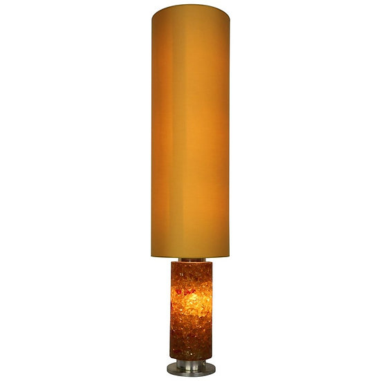 Mid-Century Modern Floor Lamp Epoxy Amber Glass, 1970s, Belgium