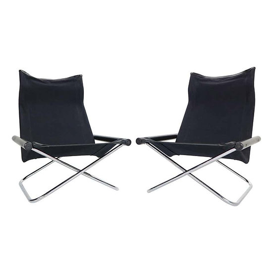 "Takeshi Nii ""NY"" Set of 2 Folding Chairs for Suekichi Uchida, 1958s, Japan"
