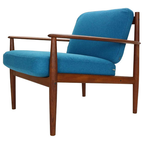Grete Jalk Teak Lounge Armchair For France & Søn, 1960s, Denmark