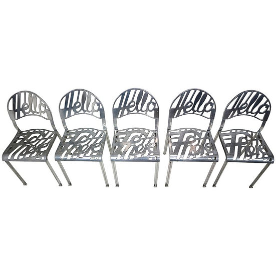 """xSet of Five Jeremy Harvey """"Hello There"""" Chairs for Artifort"""