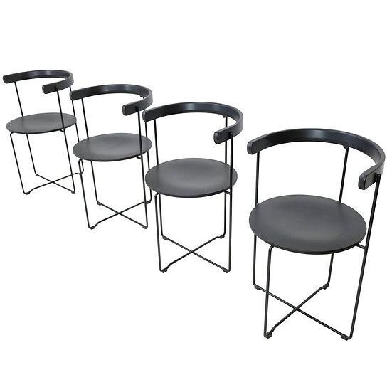 Set of Four 'Soley' Minimalist Folding Chairs by Vladimir Hardarson