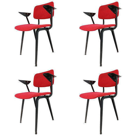 Set of Four Revolt Armchairs by Friso Kramer for Ahrend Cirkel