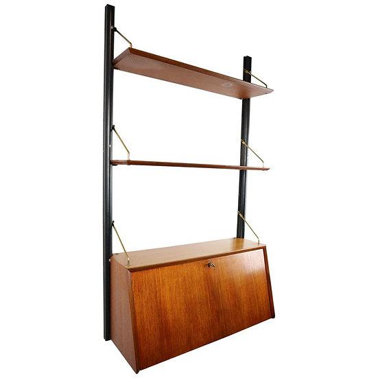 Modular Wall Unit- Secretary by Louis Van Teeffelen For Webe, Dutch Design 1950s