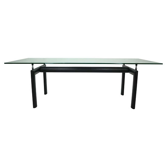 Le Corbusier Glass Dinning Table 'LC6' For Cassina, 1970s Italy