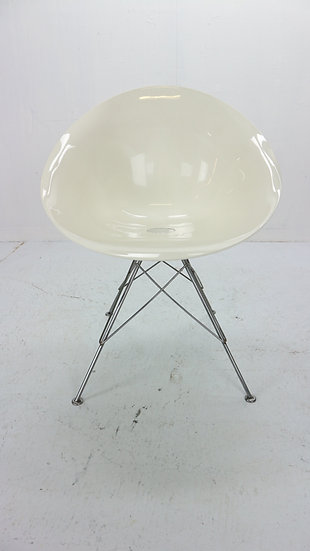 "Philippe Starck for Kartell White Lucite ""Eros"" Italian Chairs, Quantity 9"
