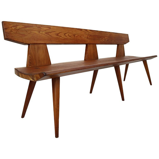 Jacob Kielland Brandt Bench in Pine Wood for Christiansen, Handcrafted, 1960s
