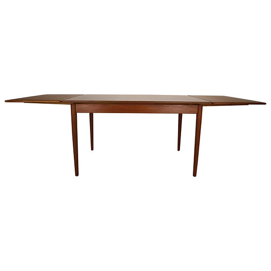Midcentury Danish Design Extendable Teak Dining Table, 1960s