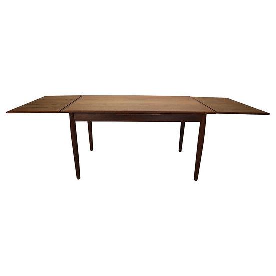 Midcentury Danish Design Extendable Teak Dining Table, 1960s