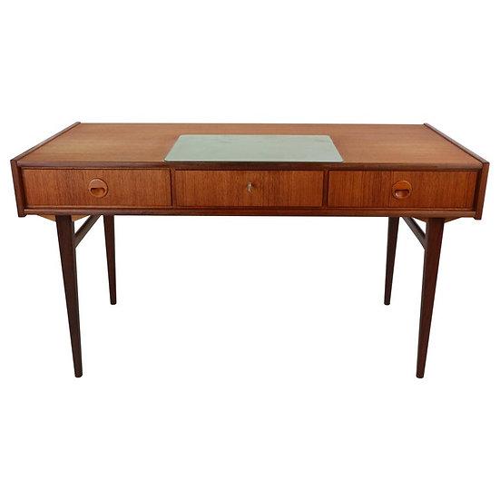 Danish Writing Desk Teak with Drawers and Bookshelves, 1960s