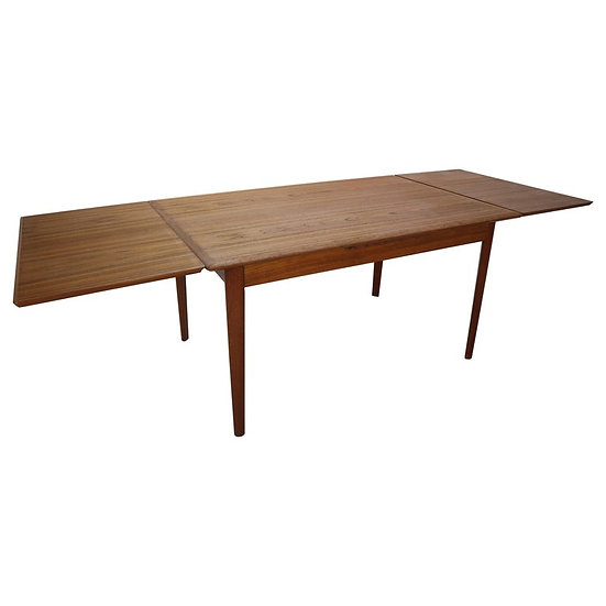 Danish Design Teak Extendable Dining Table for Ellegaards Møbelfabrik, 1960s