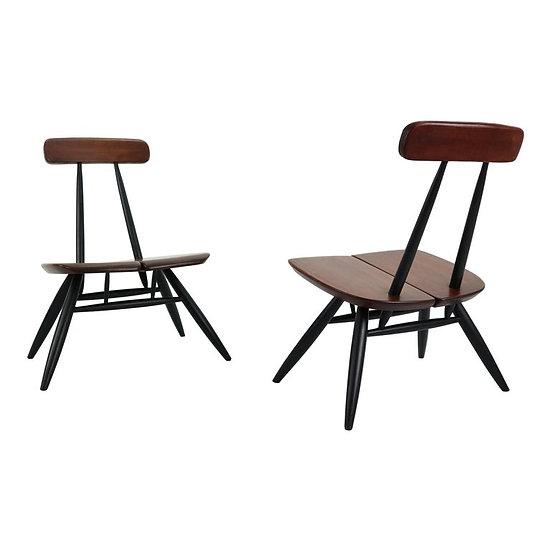 Set of 2 Ilmari Tapiovaara Pirkka Lounge Chairs, Finland, 1955