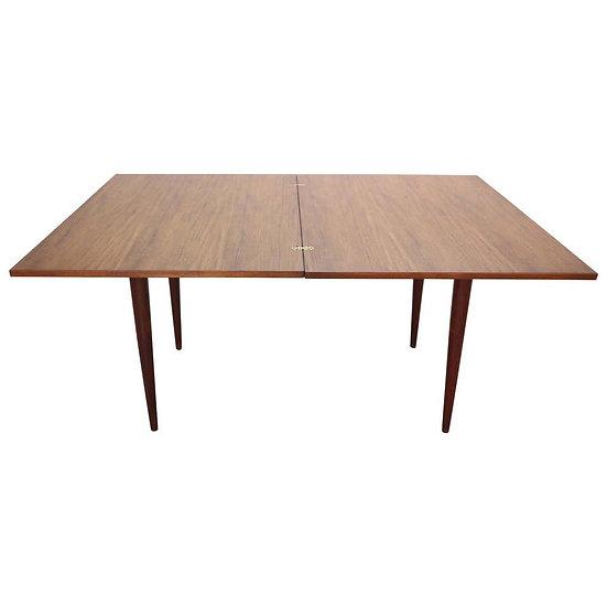 Scandinavian Modern Danish Flip-Top Extendable Teak Dining Table, 1960s