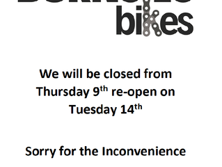 Closed 9th to the 14th of May
