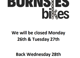 We are closed 26th & 27th of August