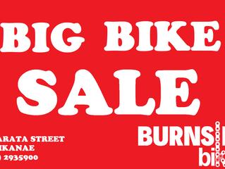 Burnsies, Big Bike Sale!