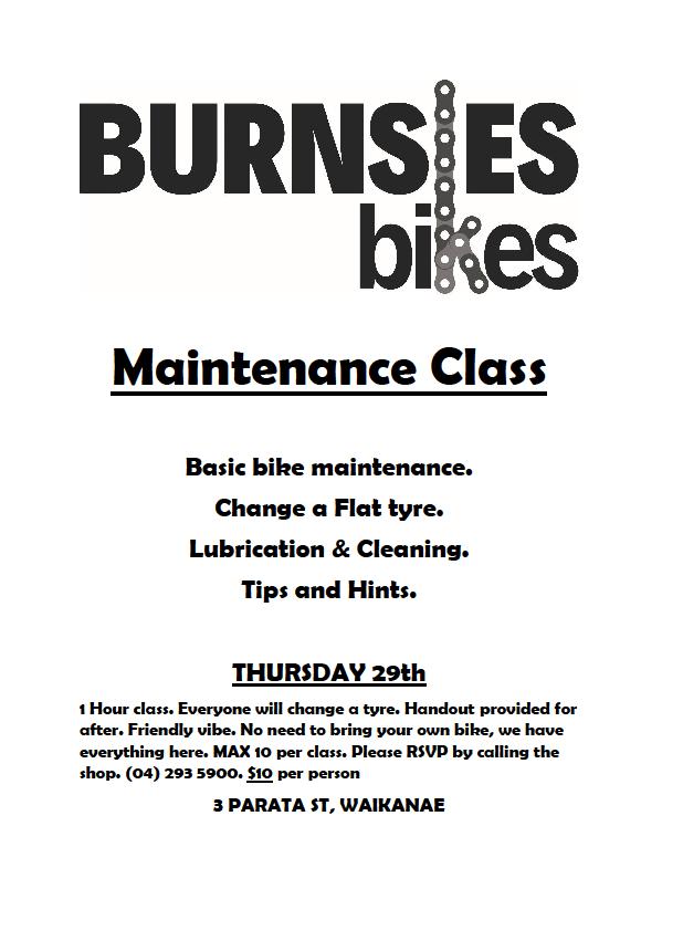 Maintenance Class