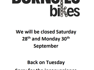 Closed this Saturday and Monday
