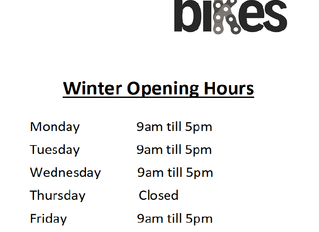 Winter Opening Hours 2019